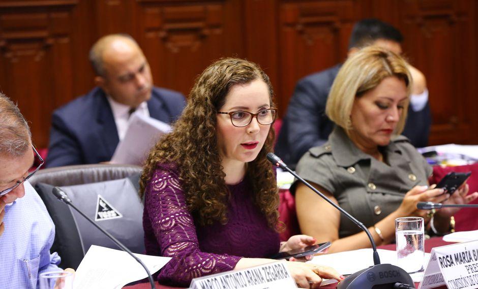 Rosa Bartra se mostró a favor de que el fujimorismo presente un candidato a la Mesa Directiva. (Foto: Congreso)