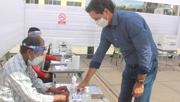 Salaverry emitió su voto desde Trujillo y no asistió a desayuno electoral de su partido. (Foto: Somos Perú)