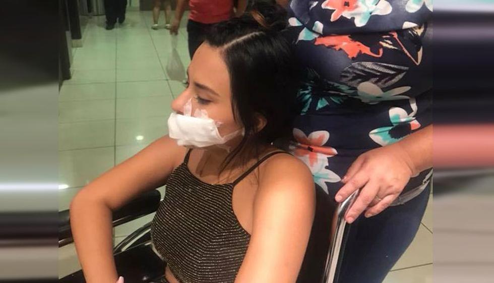 Thamara Gómez sufrió una accidente en el prgorama 'En boca de todos'. (Facebook)