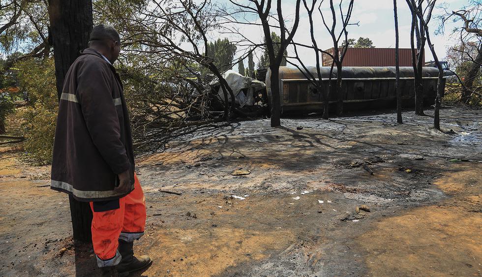 La cifra de muertos por explosión de camión cargado de petróleo en Tanzania aumentó a 68. (Foto: EFE)