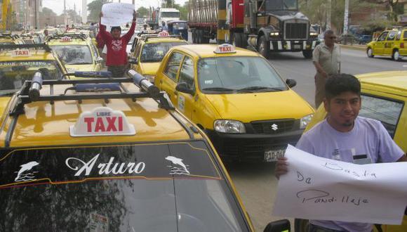 Taxistas dicen que delincuentes les piden hasta S/.6,000. (USI)