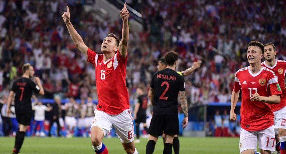 Chéryshev llegó a los cuatro goles en la Copa del Mundo 2018. (AFP)