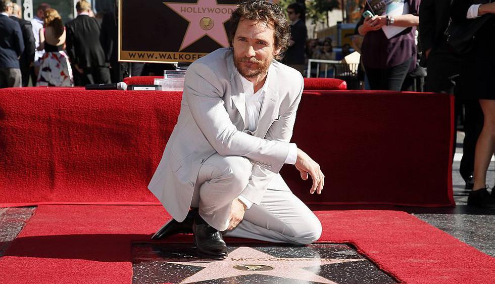 Matthew McConaughey ya tiene su estrella en el Paseo de la Fama. (Reuters)
