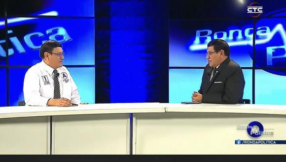 El candidato Alejandro Soto utilizó su programa de televisión para hacerse una entrevista a sí mismo. (Captura)