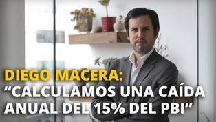 Diego Macera afirma que se calcula una caída anual del 15% del PBI