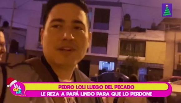 Pedro Loli fue interceptado por una reportera cuando salía de una misa.  (Imagen: Latina)