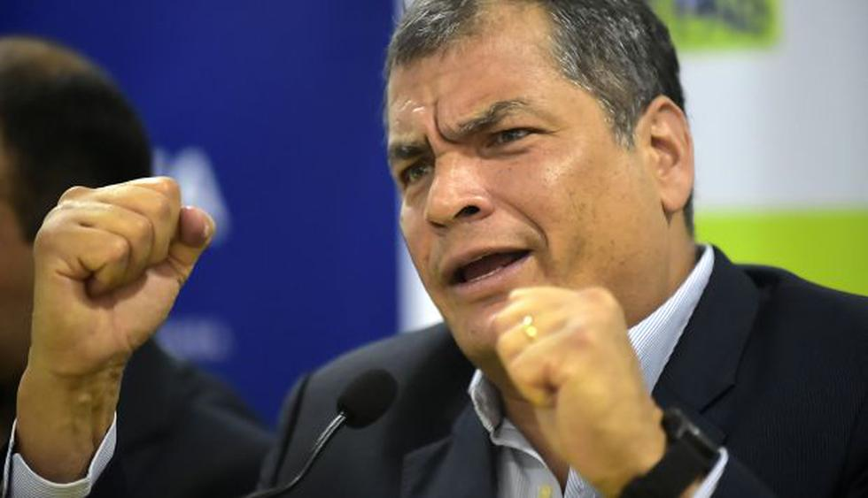 Rafael Correa afronta orden de prisión preventiva desde julio pasado. (Foto: AFP)