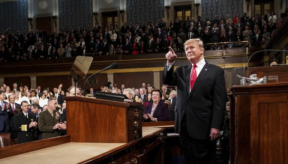 Donald Trump se manifestó en contra de la decisión parlamentaria. (Foto: AP)