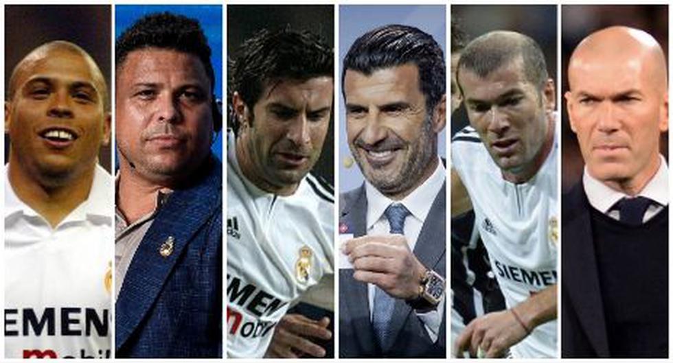 Así lucían y así lucen ahora los 'Galácticos' de Real Madrid. (Foto: AFP)