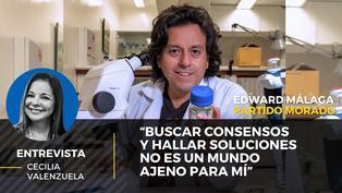 Edward Málaga candidato al Congreso del Partido Morado