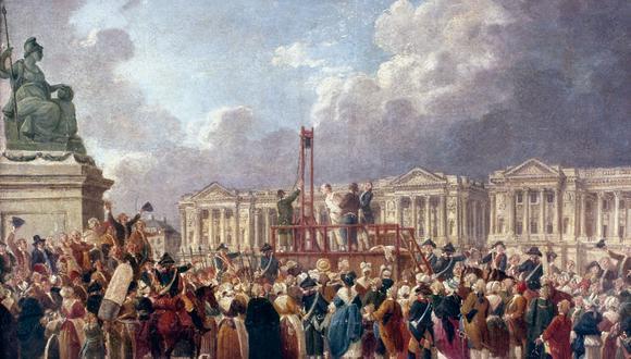 Una ejecución capital durante la Revolución francesa. Pintura de Pierre Antoine Demachy  Museo Carnavalet, París