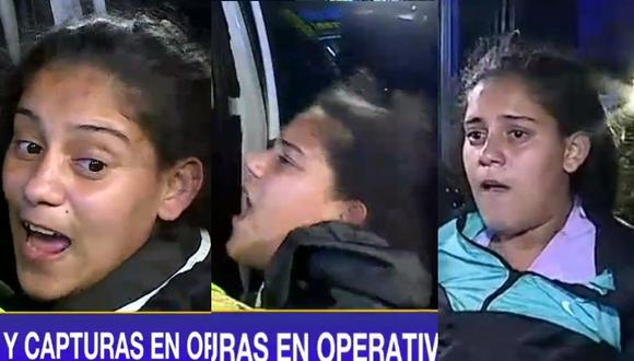 Lamentable actitud de joven intervenida en San Martín de Porres. (Captura Latina)
