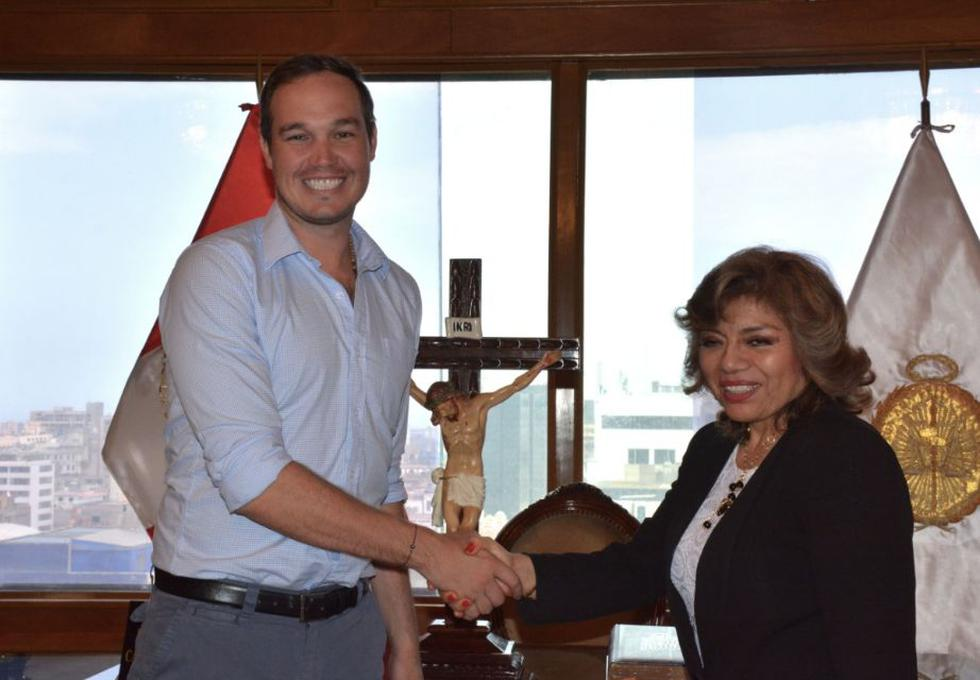 Alcalde de La Victoria, George Forsyth, se reunió con la Fiscal de la Nación, Zoraida Ávalos Rivera, para la instalación de una Fiscalía Provincial Corporativa. (Foto: Municipalidad de La Victoria)