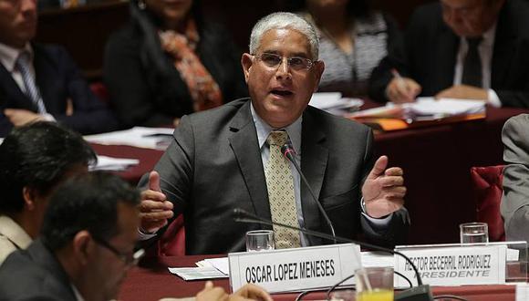 Óscar López Meneses ante la Comisión de Fiscalización del Congreso. (Anthony Niño de Guzmán/Perú21)