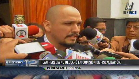 Ilan Heredia invocó derecho a guardar silencio pero luego declaró a la prensa (Canal N)