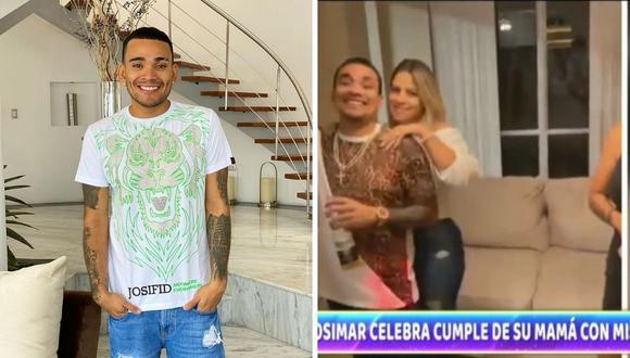 El cantante Josimar celebró a lo grande en cumpleaños de su progenitora, donde se le vio junto a una 'rubia'. (Composición: Instagram / captura ATV)