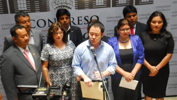 Kenji Fujimori espera que su nueva bancada, Cambio 21, sea aprobada finalmente por el Congreso. (Foto: Agencia Andina)