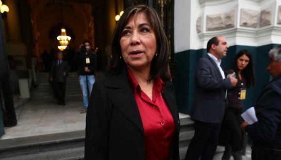 Martha Chávez debe retirarse de subgrupo de DDHH por dignidad, asegura Bambarén. (Rafael Cornejo)