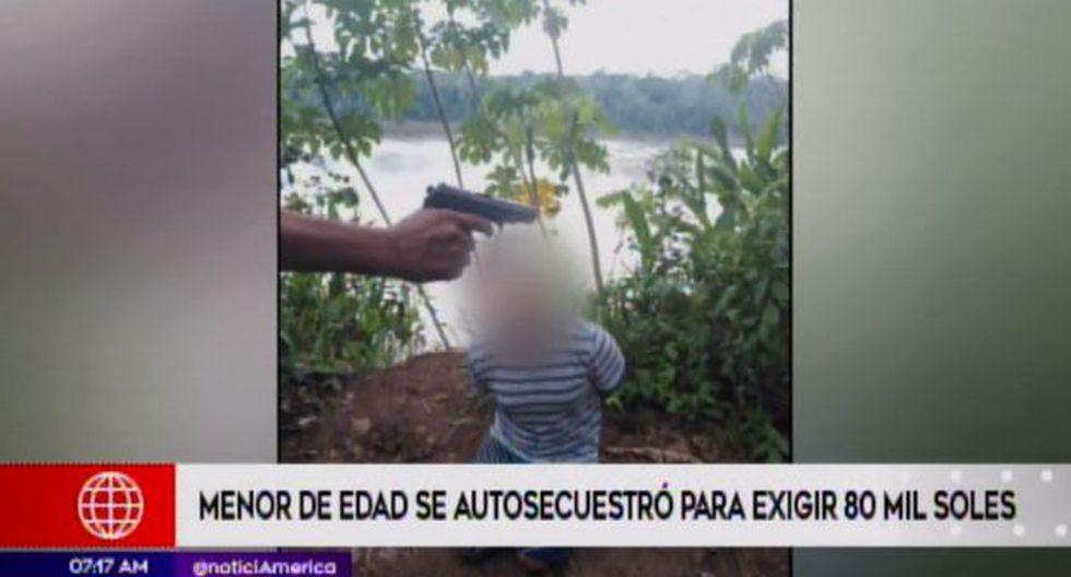 El adolescente fue entregado a su familia. (Foto: Captura/América Noticias)