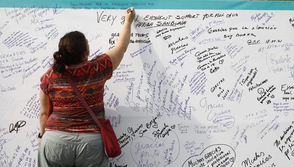 El mural se ubica en el Polideportivo de San Borja. (Fotos: Eduardo Cavero / @photo.gec)
