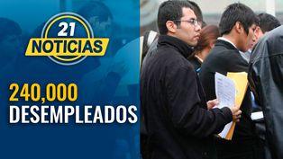 Crisis del coronavirus deja 240 mil desempleados en el Perú