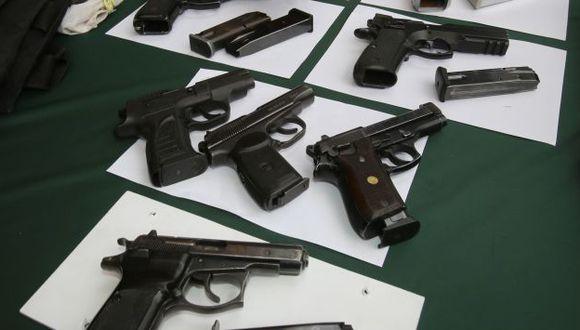 Policía busca aún seis pistolas. (USI)