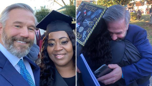 La madre de tres hijos pudo volver a clases y graduarse de la universidad gracias a que el pasajero al que llevó pagó el saldo que adeudaba después de conversar con ella y conocer su historia. (Foto: Latonya Young en Facebook)