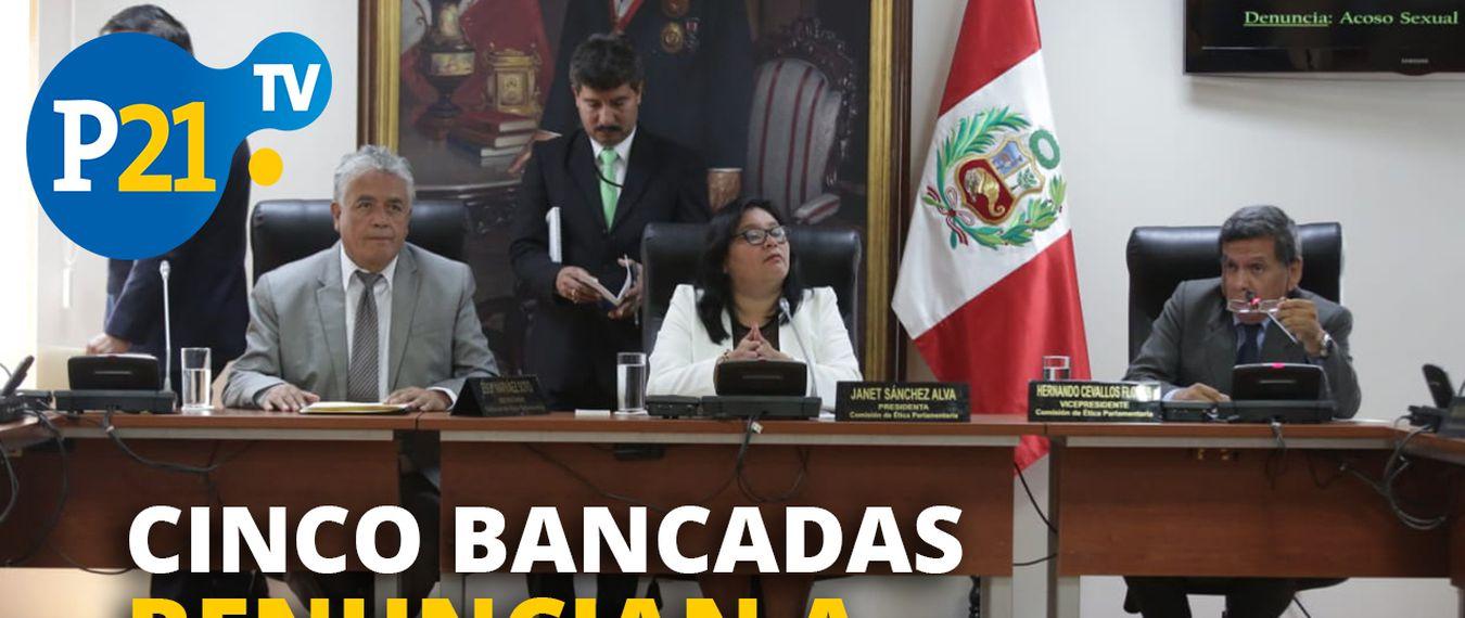 Clemente Flores: Cinco bancadas renuncian a la Comisión de Ética