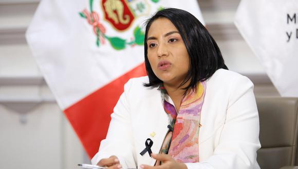 La ministra de Justicia y Derechos Humanos, Ana Neyra.