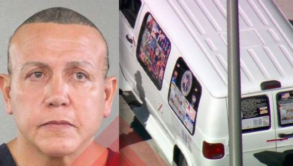 Cesar Sayoc Jr., de 56 años, es sospechoso de enviar los paquetes bomba a diversas personalidades en los EE.UU. (Foto: Twitter/@Caferro21)