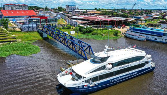 El ferry 'Amazonas II' conectará a las principales ciudades y comunidades ubicadas a lo largo de los 486 kilómetros de la ruta entre Iquitos y la localidad fronteriza de Santa Rosa (adyacente a la triple frontera de Perú, Colombia y Brasil).