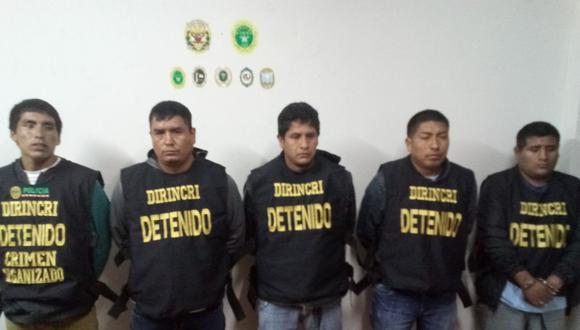 Sujetos viajaron desde Lima para perpetrar asaltos a bancos.