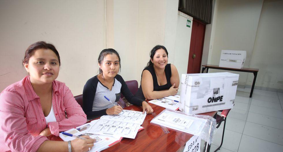 Los integrantes de una misma mesa no podrán ser una cónyuges ni parientes dentro del segundo grado de consanguinidad o afinidad. (Foto: Andina).