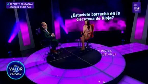 """""""El valor de la verdad"""": Anyella Grados confesó que estaba """"borracha"""" tras la fiesta en Rioja. (Foto: Captura)"""