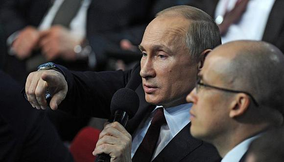 Vladimir Putin declaró en un foro en San Petersburgo sobre la prensa. (EFE)