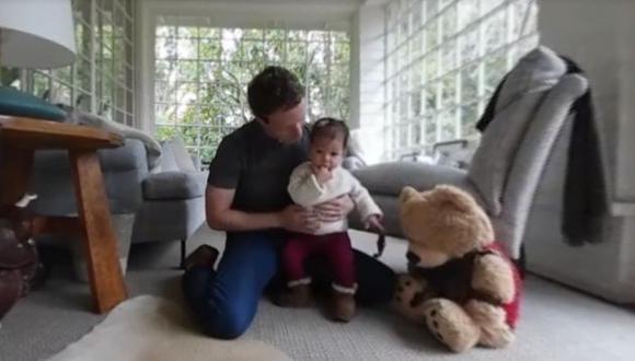 Mark Zuckerberg grabó a su pequeña en video 360° y lo compartió en Facebook.