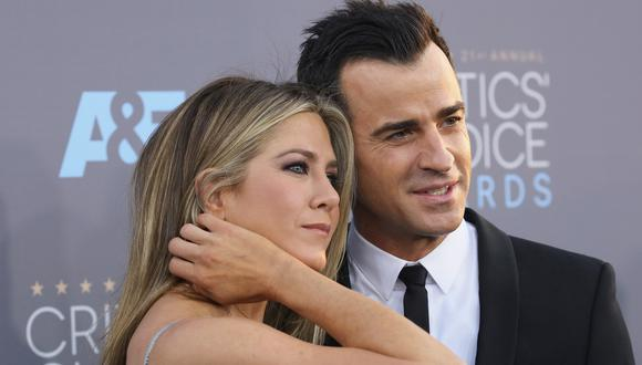 Jennifer Aniston y Justin Theroux. (Foto: AFP)