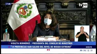 Coronavirus en Perú: 14 provincias salieron de riesgo extremo y otras 6 ingresan a este nivel