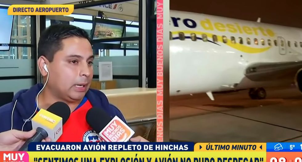 En principio, el vuelo estaba programado para minutos después de la pasada medianoche, pero según los testimonios, la salida fue aplazada varias veces. (Foto: Captura de tv)