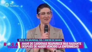 Anahí de Cárdenas contó detalles de su batalla contra el cáncer tras superarlo