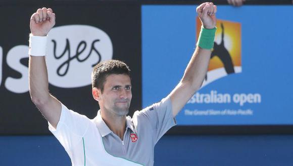 Novak Djokovic pasó a cuartos de final del Abierto de Australia. (EFE)