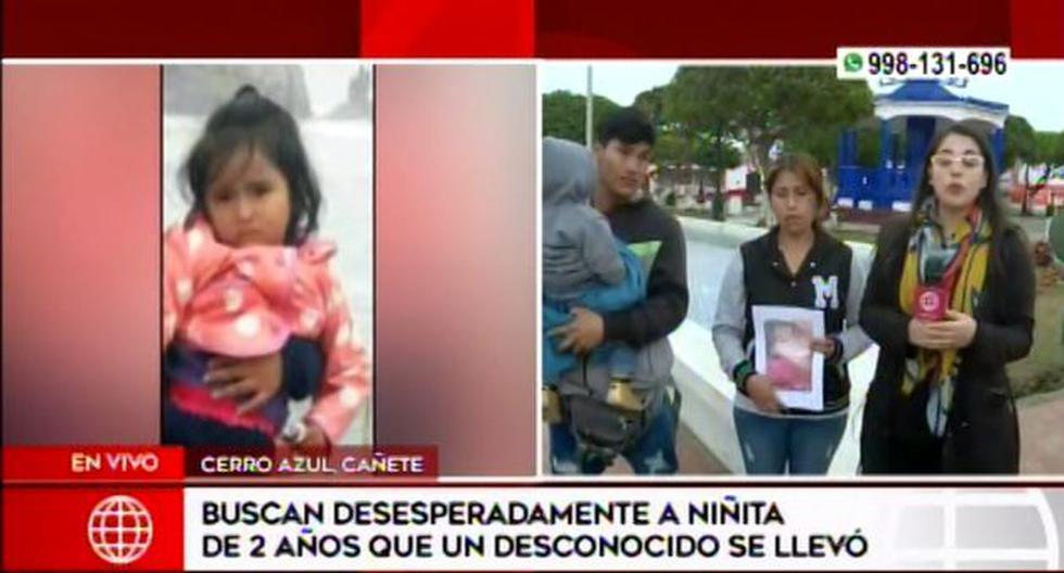 La repentina desaparición de Xoana hizo que todos los pobladores se solidaricen con la familia. (Foto: Captura/América Noticias)