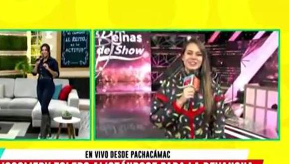 """Jossmery Toledo reaparece en """"América Hoy"""" tras dejar plantada a conductoras. (Foto: captura de video)"""