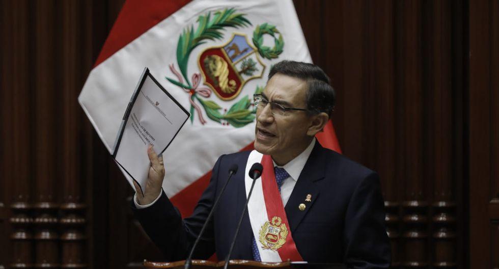 """Martín Vizcarra propone adelantar elecciones: """"Aunque ello implique que todos nos tengamos que ir"""". (César Campos - GEC)"""