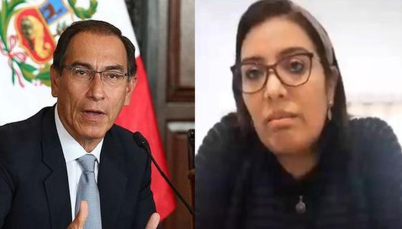 Karem Roca y el presidente Martín Vizcarra podrían afrontar nueva denuncia en Moquegua. (Foto: GEC/Congreso)