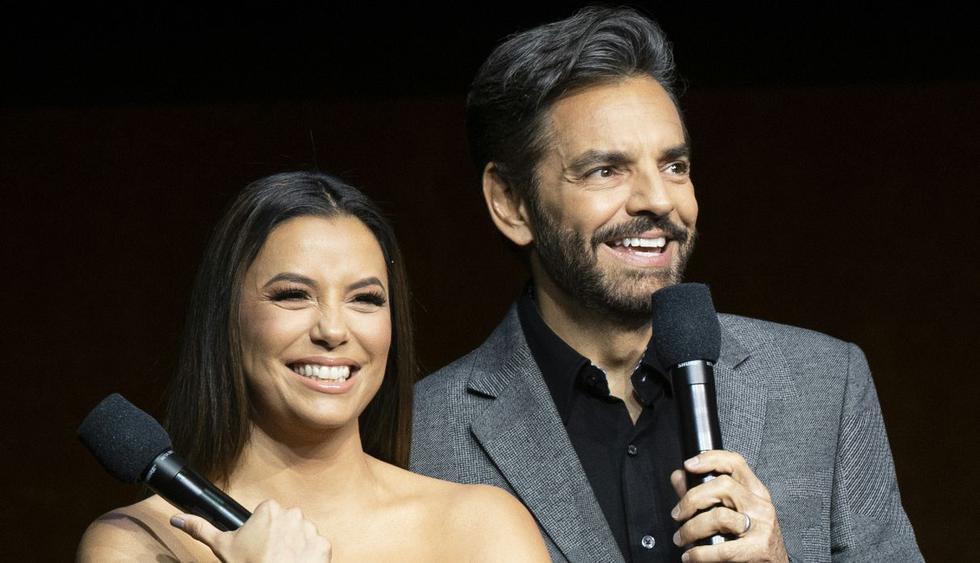 """Eva Longoria y Eugenio Derbez estrenaron """"Dora y la ciudad perdida"""" en Miami. (Foto: AFP)"""