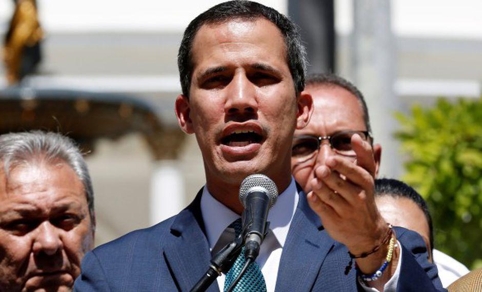 """""""El 90 por ciento esta movilizado a favor de la paz, el 90 por ciento del país cree en el reencuentro"""", dijo Juan Guaidó. (Foto: EFE)"""