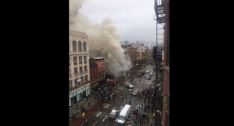 Explosión en Manhattan habría dejado más de 30 heridos. (Twitter/@ScottWesterfeld)