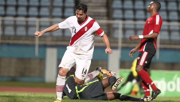 Pizarro volvió a convertir después de tiempo. Perú fue superior al conjunto caribeño en Puerto España. (Fernando Sangama/USI)