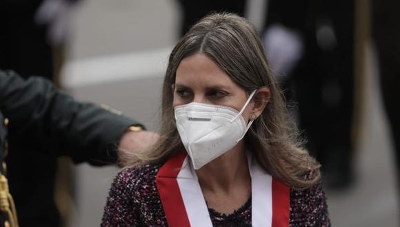 La presidenta del Congreso, María del Carmen Alva, respondió sobre incidente con Francisco Sagasti. (Foto: GEC)